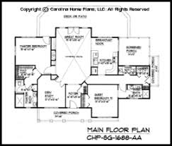 Small Craftsman Cabin House Plan CHP SG   AA Sq Ft   Affordable    SG  Main Floor Plan