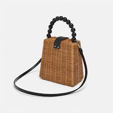 Small Box Tote Straw Bag Portable Shoulder <b>Handmade</b> Women ...