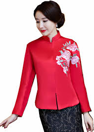 Shanghai Story Mandarin Collar Traditional <b>Chinese Clothing For</b> ...