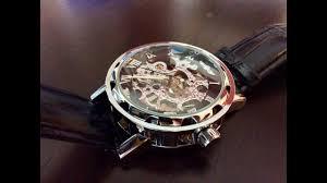 $17 GuTe classic <b>steampunk mechanical automatic</b> black silver ...
