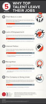 why telented employees wants to leave their job top 5 reasons why top talents leave their jobs infographic