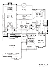 Ranch House Plans   Plan of the Week   HousePlansBlog DonGardner comRanch house plans   Home Plan of the Week The Marley   first floor plan