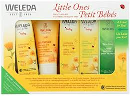 Weleda Baby Grooming Starter Kit, 5-Piece Set: <b>Comforting Baby Oil</b> ...
