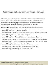 toprestaurantcrewmemberresumesamples lva app thumbnail jpg cb