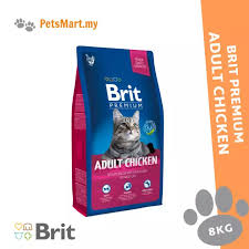 <b>Brit Premium Cat Adult</b> Chicken 8KG Dry Cat Food FREE 1.5KG ...