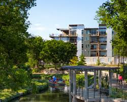 downtown lexington loft living: a view of the san antonio river outside  broadway