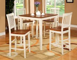 dining room pub style sets: classy casual dining room decor with two tone pub style kitchen tables lacey buttermilk saddle