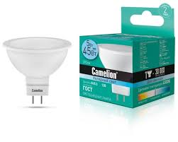 <b>Лампа</b> светодиодная <b>Camelion</b> 12026, <b>GU5</b>.<b>3</b>, <b>MR16</b>, 5Вт ...