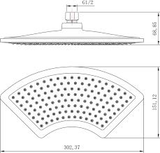 <b>Верхний душ Lemark LM8044C</b> купить в магазине Сантехника ...