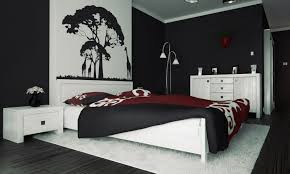 bedroominteresting white black and red bedroom ideas with white fur rug on wooden floor bedroombreathtaking stunning red black white