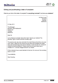 a letter of complaint cover letter sample  a letter of complaint