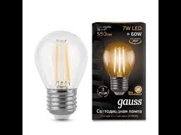 Светодиодная лампа <b>Gauss LED</b> Filament <b>Globe E27</b> 7W 2700K ...