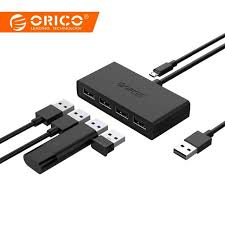 <b>ORICO High Speed 4</b> Ports USB3.0 Hub USB Port USB Micro Port ...