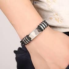 Goodtimes28 <b>Fashion</b> Titanium Steel Wristband <b>Silicone</b> Bracelet ...