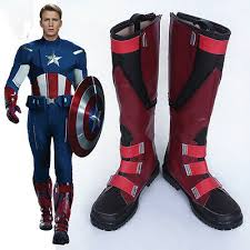 Steve Rogers Cosplay Boots Captain America The First Avenger ...