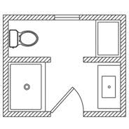 designing bathroom layout: floor plans ip fp thumb plan  floor plans