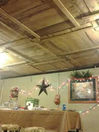 Concept Basement Ceiling Ideas Diy With Old Pallet Crate Lids Throughout Decor