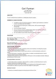 resume sample for nursery teachers online resume format resume sample for nursery teachers teaching assistant cv sample cover letters and resume resume sample of