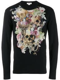 Alexander McQueen <b>floral skull T</b>-<b>shirt</b> $320 - Shop AW19 Online ...