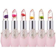 6 Pcs/Set Flower Jelly Lipstick Set Temperature ... - Amazon.com