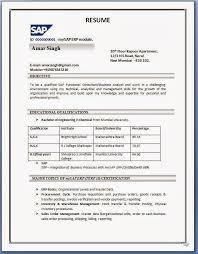 sap sd resume format sample sap mm consultant cover letter