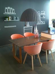 gray orange dining room kitchen gorgeous lighting in the kitchen design dining table feat oran