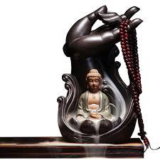 <b>Ganesha Backflow Incense Burner</b> Ceramic Smoke Waterfall ...