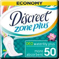 Ежедневные <b>гигиенические прокладки Discreet Deo</b> Water Lilly ...