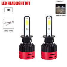 Pair <b>CREE COB H4 HB2</b> 9003 72W 8000LM LED Headlights Kit Hi ...