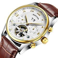 Segolike Luxury <b>KINYUED Mens Automatic Mechanical</b> Casual ...