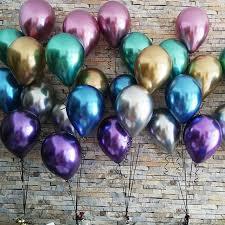 <b>10pcs</b> 5/10/<b>12inch</b> Glossy <b>Metal</b> Pearl <b>Latex</b> Balloons Thick Chrome ...