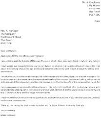 massage therapist cover letter example   icover org uk