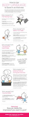 how to use body language to score big in a job interview infographic infographic body language