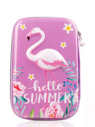 Buy <b>1Pcs</b> EVA 3D Unicorn Flamingo Bird Pencil Bag Girl <b>Cartoon</b> ...
