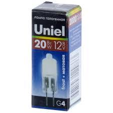 <b>Лампа</b> галогенная <b>G4</b> 20W/12V/FR <b>Uniel</b> по 45 руб. на сайте ...