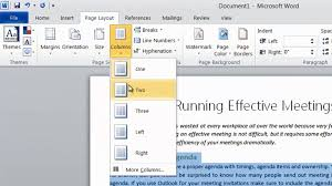 business productivity how to format your text into two columns how to format text into two columns in word 2010