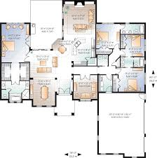 Mediterranean Style House Plans   Plan   Main Floor Plan