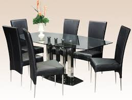 Dining Room Sets 6 Chairs Furniture Black Wooden Coffee Table Base For Glass Top Noguchi
