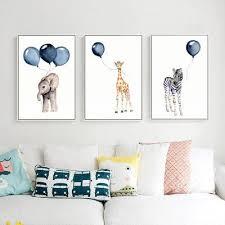 Modern simple creative <b>cartoon</b> balloon animal decoration <b>picture</b> ...