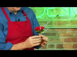 Silk Flower Corsage Instructions : Floral Design - YouTube