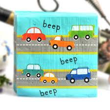 20 шт./лот мультфильм автомобиль <b>бумажные салфетки</b> ...