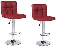 Modern Leather Table Lamps with White Fabric Shades, <b>Red</b>, PK 2
