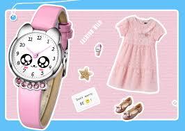 <b>KDM Luxury Top Brand</b> Girl Watch Kids Cute Leather Watches ...