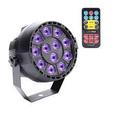 UKing 12LEDS DMX Remote Controller <b>UV Black Light</b> for <b>Disco</b> DJ ...