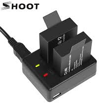 <b>SHOOT Dual Port Battery</b> Charger with 2pcs 900mAh Battery for ...