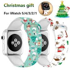 44mm 40mm <b>Christmas Silicone Band for</b> Apple Watch 5 4 3 2 ...