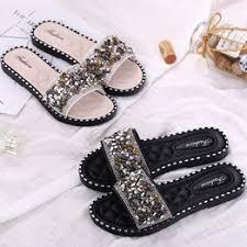 Luxury Crystal Women Flats Slippers Fashion Rhinestone ... - Vova