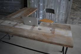 custom wooden l shaped desk shaped wood desks home