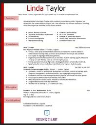 math teacher resume examples resume examples 2017 sample