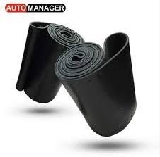 Genuine Leather <b>Braiding Steering</b> Wheel Covers <b>Braid On The</b> ...
